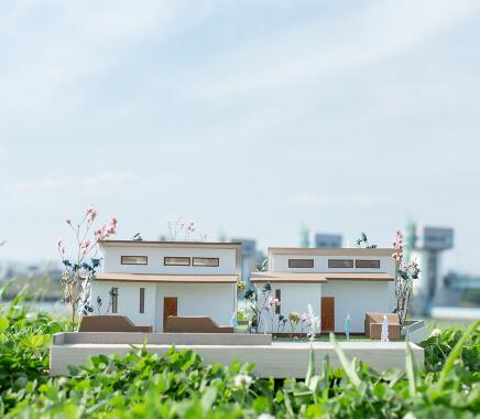 家の模型写真